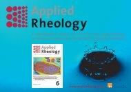 Applied Rheology Info