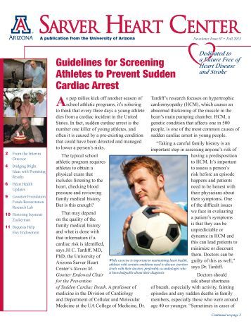 the prevention of sudden cardiac death in young athletes Sudden cardiac arrest is the leading cause of death in young athletes learn more statistics about student athletes and sca from close the gap.