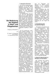 Die Bedeutung der Hygiene in Alten- und Pflegeheimen - Lysoform.ch