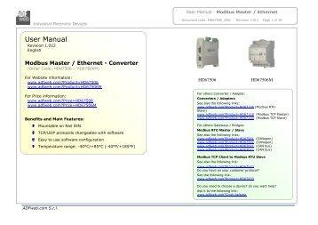 Modbus Master / Ethernet - ADFweb