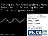 Tuning up for Gravitational Wave Detection in ... - gwpaw 2012