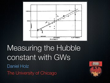 Measuring the Hubble constant with gravitational waves - gwpaw 2012
