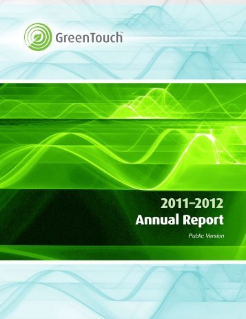 Download the 2011-2012 annual report - GreenTouch