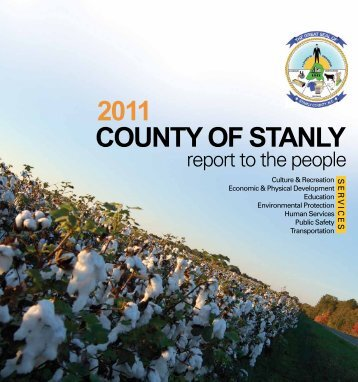 2011 Report to the People - Stanly County, North Carolina