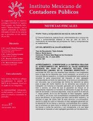 Noticias Fiscales 87 - Instituto Mexicano de Contadores Públicos
