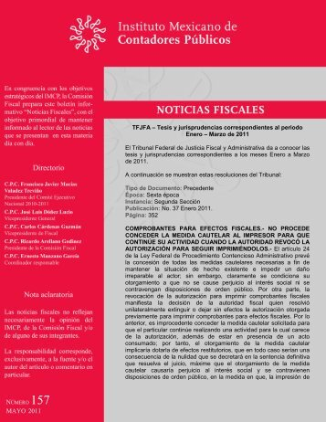 Noticias Fiscales 157