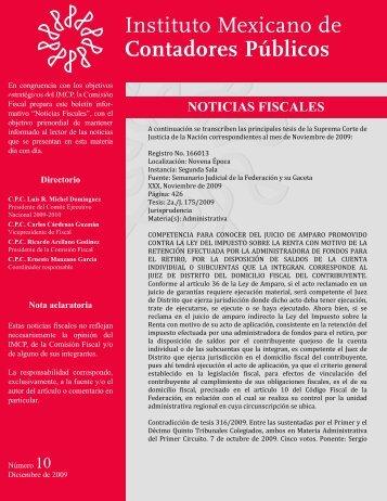Noticias Fiscales 10 - Instituto Mexicano de Contadores Públicos