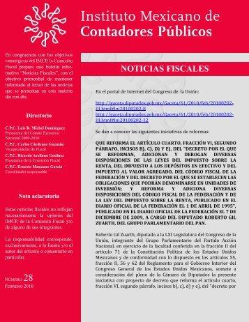 Noticias Fiscales 28