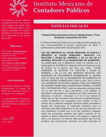 Noticias Fiscales 65