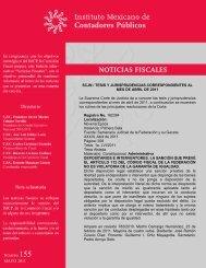 Noticias Fiscales 155 - Instituto Mexicano de Contadores Públicos