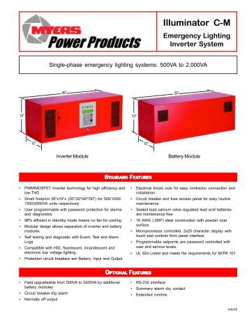 appendix 2g – part 2 power distribution cut sheets illuminator cm cut sheet pdf myers power products inc