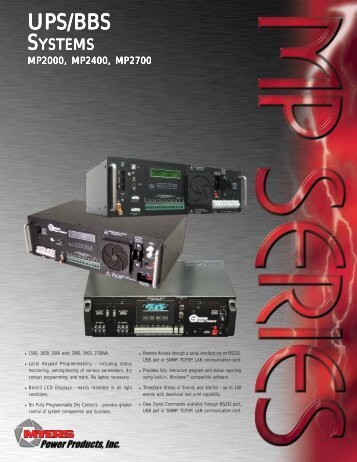 MP Series brochure NEW 2 - Myers Power Products, Inc.