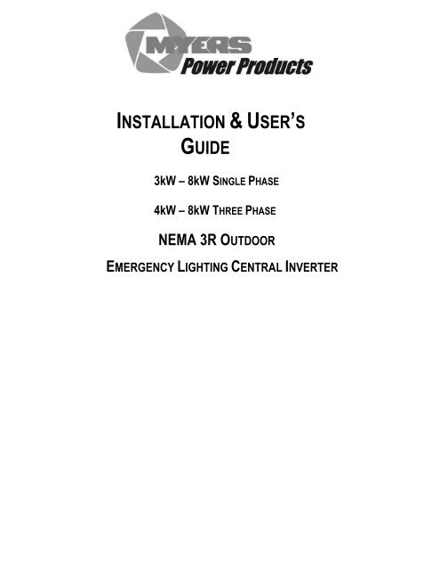 [SCHEMATICS_4HG]  Series CR Installation Manual PDF - Myers Power Products, Inc. | Myers Inverter Wiring Diagram |  | Yumpu