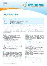 Thermische Analyse - EXPERTA