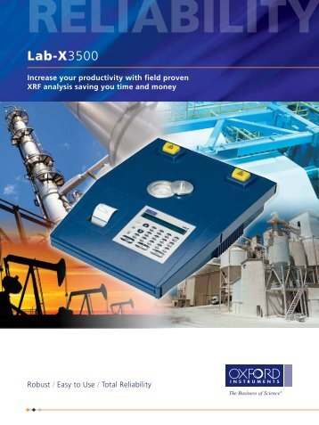 Lab-X3500 Benchtop XRF Analyser - Standard Service