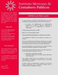 Noticias Fiscales 17 - Instituto Mexicano de Contadores Públicos