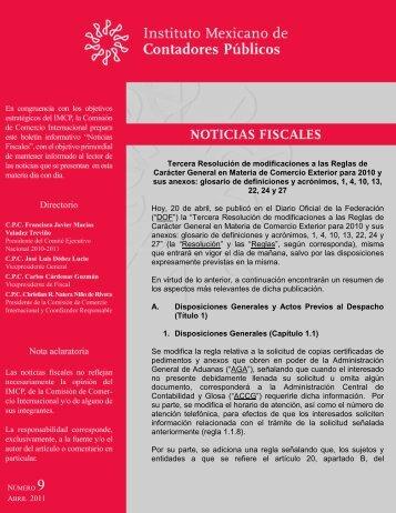 Tercera Resolución de modificaciones a las Reglas de Carácter ...