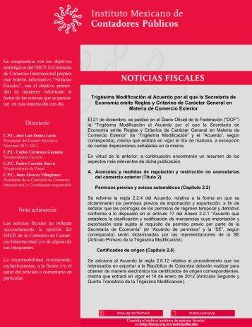 Noticias Fiscales 14/CCI