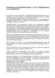 Anwendung von Desinfektionsmitteln in der ... - Lysoform.ch