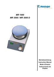 MR 1000 MR 3000 / MR 3000 D - LUIW
