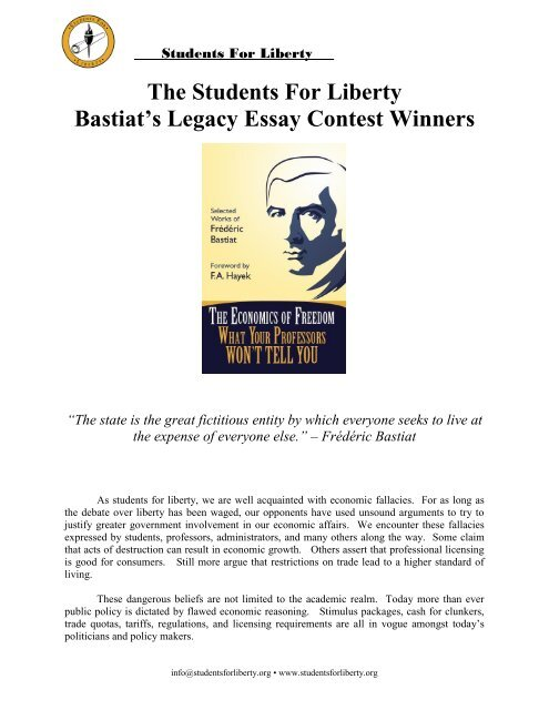 Bastiat Seen And Unseen Pdf