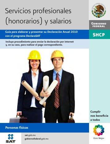 Servicios profesionales (honorarios) y salarios