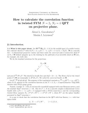 How to calculate the correlation function in twisted SYM N = 2, N f ...