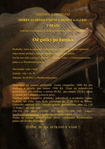 pozvánka a program Od gotiky ..012-13 _1 - Národní galerie v Praze