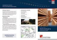 Flyer MSc Holzwirtschaft - Universität Hamburg