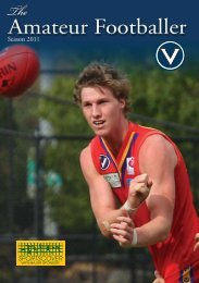 VAFA ROUND 2.indd - Victorian Amateur Football Association