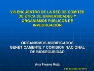 Actividad y funciones de la Comisión Nacional de Bioseguridad