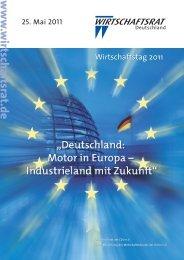 Wirtschaftstag 2011 - Wirtschaftsrat der CDU e.V.