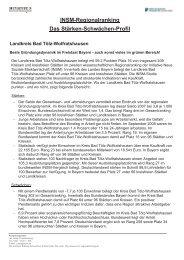 INSM-Regionalranking Das Stärken-Schwächen-Profil Landkreis Bad ...