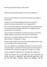 Beretning til generalforsamling 6. februar 2013 Velkommen ... - Endrup