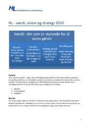 HL - værdi, vision og strategi 2010 - Handelsskolernes Lærerforening