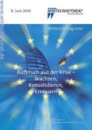 Wirtschaftstag 2010 - Wirtschaftsrat der CDU e.V.