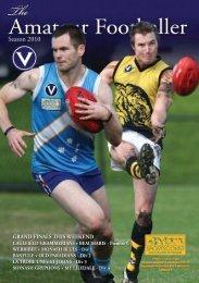 11 September - Victorian Amateur Football Association