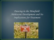 Adolescent Development and Its Implications for Treatment