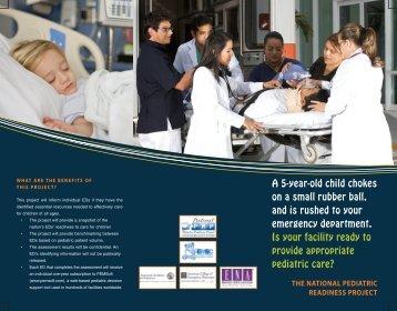 Pediatric Readiness brochure - National Pediatric Readiness Project