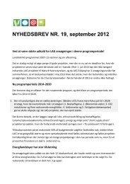 NYHEDSBREV NR. 19, september 2012 - Endrup