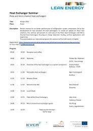 Heat Exchanger Seminar - Lean Energy