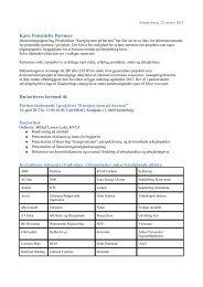 Invitation, Liste over inviterede parter og ... - Lean Energy
