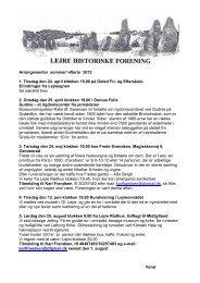 Arrangementer sommer/ efterår 2012 1. Tirsdag den 24. april ...