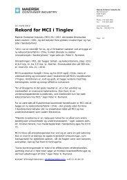 Se Fulde Pressemeddelelse fra Maersk Container ... - Lean Energy