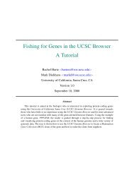 Fishing for Genes in the UCSC Browser - UCSC Genome Browser