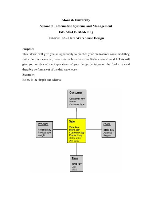 Data Warehouse Design - Information Management and Systems