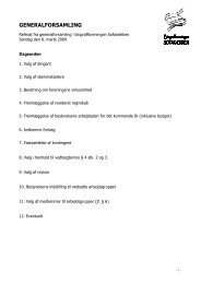 Referat fra generalforsamlingen i 2009 - Glostrup Bio
