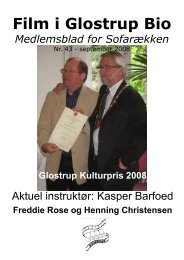 Nr. 43: Aktuel instruktør: Kasper Barfoed. / Kulturpris ... - Glostrup Bio