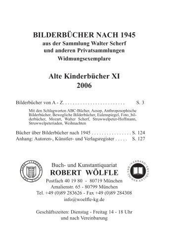 Bücher über Bilderbücher nach  1945 - Antiquariat Robert Wölfle