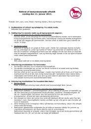 Referat af bestyrelsesmøde afholdt den 11. januar 2012 - Faxi-klubben